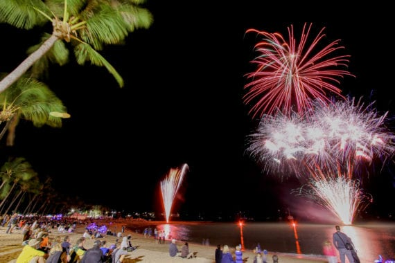 Great Barrier Reef Festival Fireworks by the Foreshore