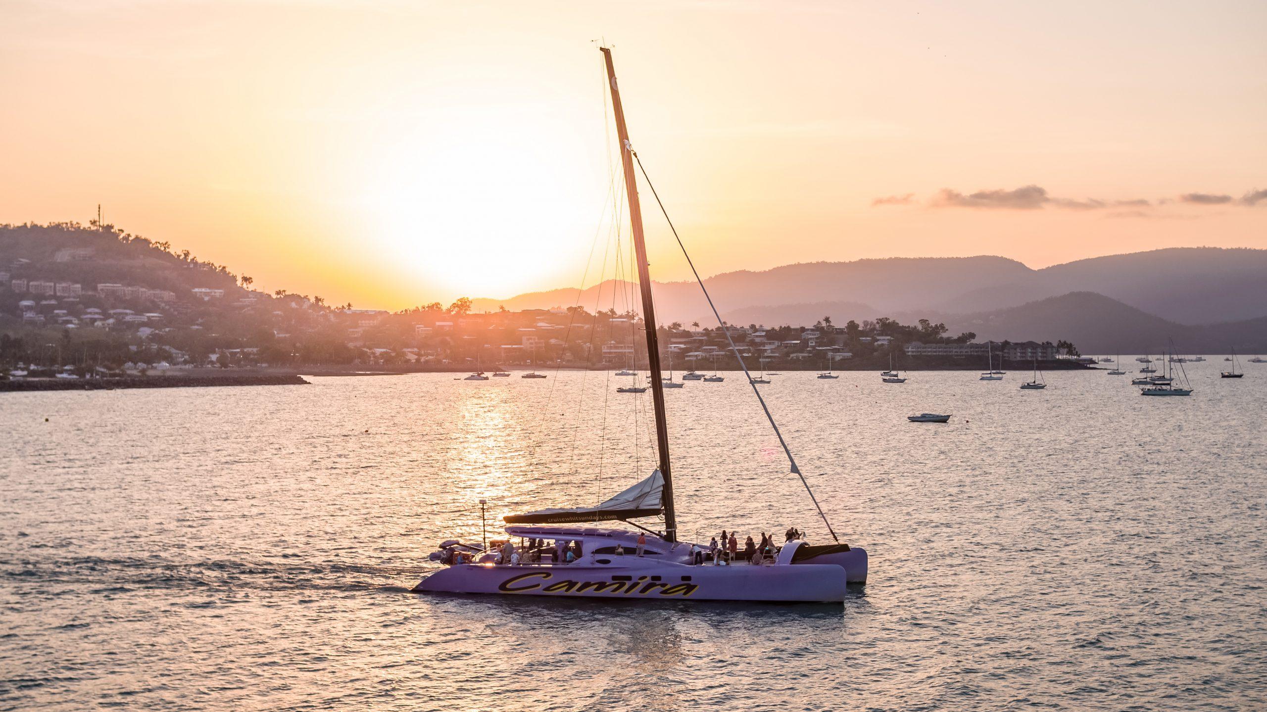 Firework Sunset Sail on Camira